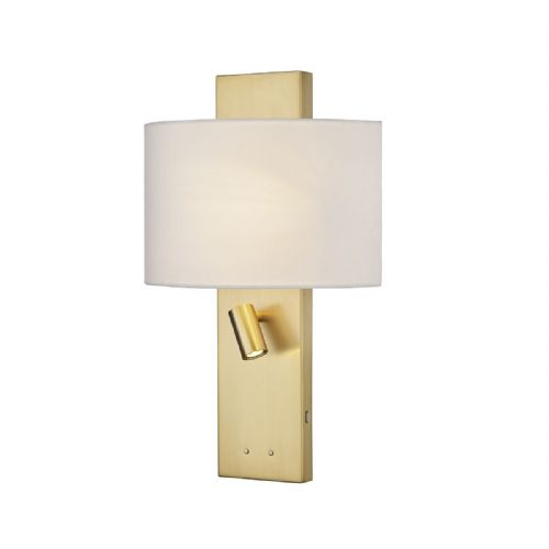 Dijon Wall Light Satin Brass C/W Shade (double insulated) BXDIJ0941-17